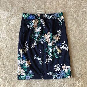 NWT Ann Taylor Floral Pencil Skirt